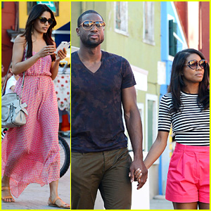 Freida Pinto: Venice Sightseeing with Gabrielle Union & Dwyane Wade!