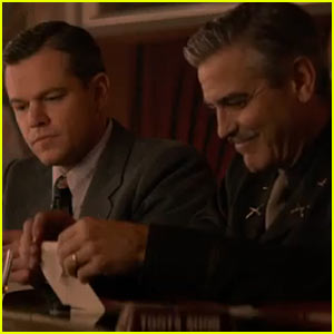 George Clooney & Matt Damon: 'Monuments Men' Trailer -  Watch Now!