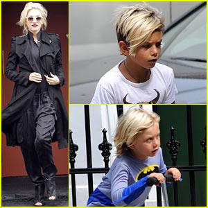 Gwen Stefani & Gavin Rossdale Head to Heathrow for Family Flight