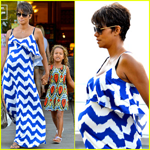 Halle Berry Shows Off Large Baby Bump at Bristol Farms