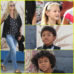 Heidi Klum Enjoys Family Afternoon Movie Outing!