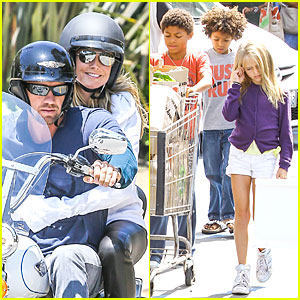 Heidi Klum & Martin Kirsten: Motorcycle Ride Without Kids!