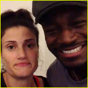 Idina Menzel & Taye Diggs Sing 'Wicked' Song, Forget Words!