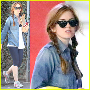 Isla Fisher: Pigtails for Target Shopping Trip!