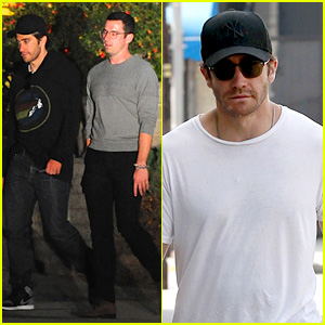 Jake Gyllenhaal Grabs Vegan Food, Walks Dog Atticus