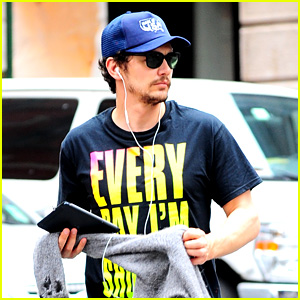 James Franco Plays with Paint on New York City Rooftop