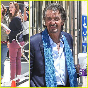 Jennifer Garner Preps for Work on 'Imagine' Set with Al Pacino!
