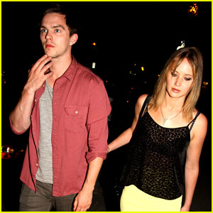 Jennifer Lawrence & Nicholas Hoult: Arm-in-Arm at 'X-Men' Wrap Party!