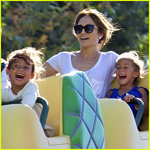 Jennifer Lopez Spends Fun Day at Disneyland with the Kids!
