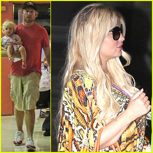 Jessica Simpson & Eric Johnson Step Out After Baby Ace's Birth!