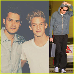 John Mayer Meets Cody Simpson Before Boston Concert