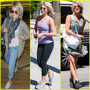 Julianne Hough Flies Out of LAX After Girls Night!
