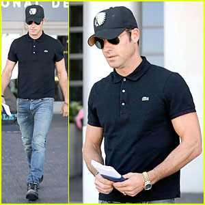 Justin Theroux: Immigration and Border Patrol Office at LAX!