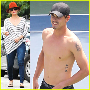 Kaley Cuoco Enjoys Tennis with Shirtless Ryan Sweeting!