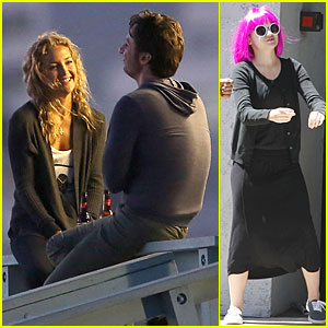 Kate Hudson: Romantic Night Scenes for 'Wish I Was Here'!