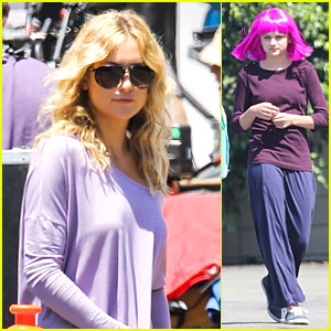 Kate Hudson: 'Wish I Was Here' Set with Wig Wearing Joey King!