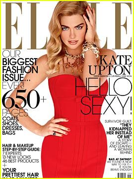 Kate Upton Covers 'Elle' September 2013