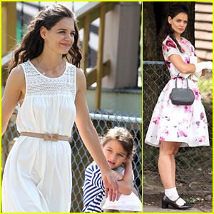 Katie Holmes Goes Vintage for 'Miss Meadows' with Suri