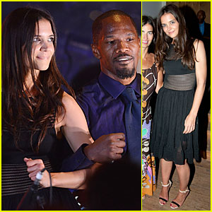 Katie Holmes & Jamie Foxx Hook Arms at Apollo Theater Benefit