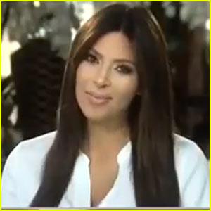 Kim Kardashian Records Post-Baby Video Message for 'Kris'