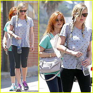 Kirsten Dunst & Isla Fisher: Gym Workout Babes!