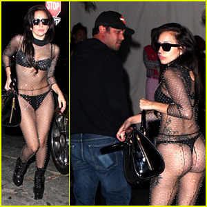 Lady Gaga Bares Butt on Date Night with Taylor Kinney!