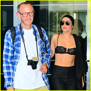 Lady Gaga Wears Bra at Rehearsal with Terry Richardson