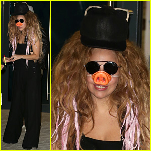 Lady Gaga Wears Pig Nose at London Rehearsal Studio