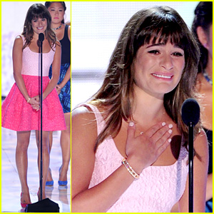 Lea Michele: Teen Choice Awards Speech Video - Watch Now!