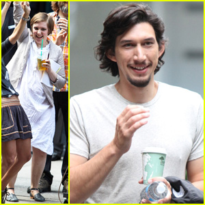Lena Dunham: 'Girls' Set Fun with Adam Driver!