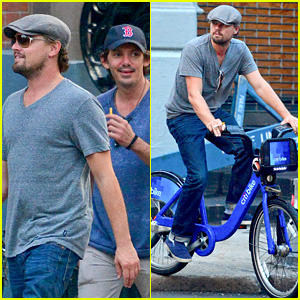 Leonardo DiCaprio: CitiBike Ride with Lukas Haas!