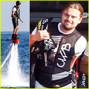 Leonardo DiCaprio Flyboards in the Air During Ibiza Vacation!
