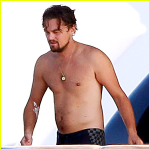 Leonardo DiCaprio Goes Shirtless After Flyboarding in Ibiza