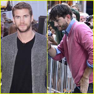 Liam Hemsworth & Ashton Kutcher: 'GMA' Guys!
