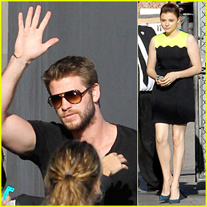 Liam Hemsworth & Chloe Moretz: 'Jimmy Kimmel Live' Guests!