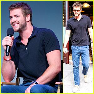 Liam Hemsworth Talks 'Paranoia' at Apple Store!