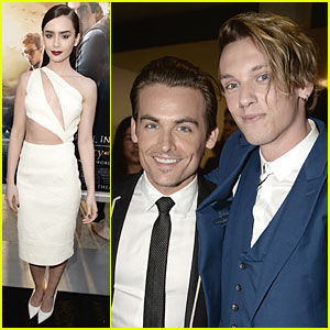 Lily Collins & Jamie Campbell Bower: 'City of Bones' Premiere!