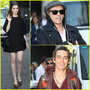 Lily Collins & Jamie Campbell Bower: ITV Studios Visit!