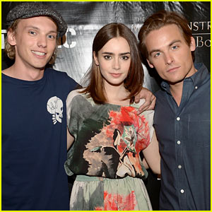 Lily Collins & Jamie Campbell Bower: 'Mortal Instruments' in Miami