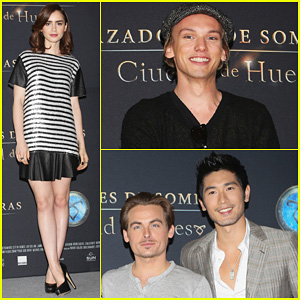 Lily Collins & Jamie Campbell Bower: 'Mortal Instruments' Mexico City Photo Call!