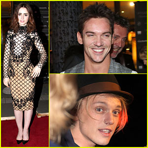 Lily Collins & Jonathan Rhys-Meyers: 'City of Bones' Norway Premiere!