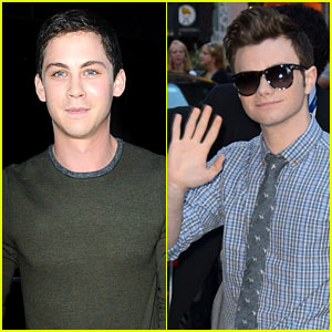 Logan Lerman & Chris Colfer Promote on 'GMA'!