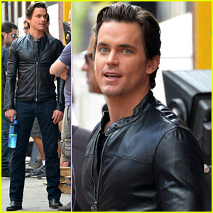 Matt Bomer: Fitted Leather Jacket for 'White Collar'!