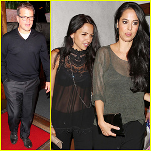 Matt Damon: Madeo Dinner with Wife Luciana!