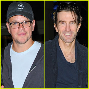 Matt Damon & Sharlto Copley: 'Elysium' Guys at LAX!