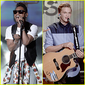 Miguel & Cody Simpson Perform at Young Hollywood Awards!