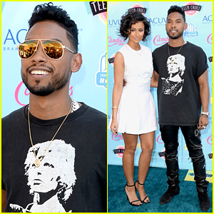 Miguel - Teen Choice Awards 2013 with Nazanin Mandi
