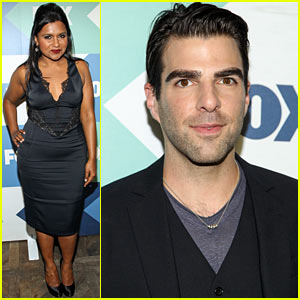 Mindy Kaling & Zachary Quinto: Fox All Star Party!