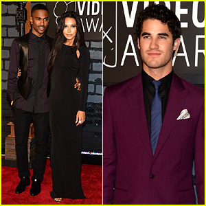 Naya Rivera & Darren Criss - MTV VMAs 2013 Red Carpet