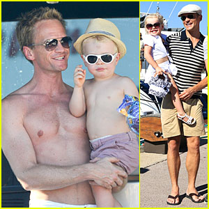 Neil Patrick Harris: Shirtless Vacation with David Burtka & Twins!